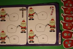 Santa's Cents Counting Money Coins File Folder Game Download Math Games Prek Kindergarten 1st 2nd Gd Time Fillers Matching Money Amounts by MyFileFolderGames on Etsy