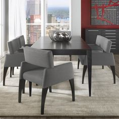 Canadel High Style Custom Dining Modern Customizable Table Set With Bench Available At Rotmans Furniture