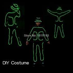 Easter Day Lights Led Strip Walking Dead Costume Rave Party Glowing Bar  Dance Show Light Up Neon Diy Western Cowboy Clothing. af90144b8