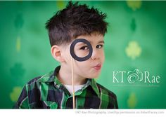 St. Patrick's Day Photo Inspiration - Child Portrait by KT Rae Photography featured on I Heart Faces Photography Blog