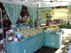 farmers market soap display