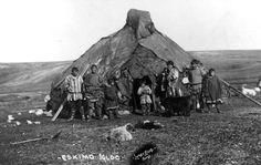 "Circa between 1900 and 1930, Alaska. ""Eskimo igloo"". Lomen Bros., photographer. LC-DIG-ppmsc-02426 http://www.loc.gov #American #History #Alaska"