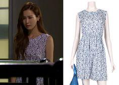 "Lee Da-Hae in ""Hotel King"" Episode 30.  Arnaldo Bassini Ruched Waist Sleeveless Dress  #Kdrama #HotelKing #호텔킹 #LeeDaHae #이다해"