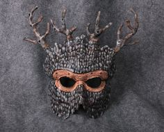 Trees Leather Tree Mask Tree people by Artistathand on Etsy, $120.00