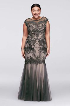 2b80745ca960b Find plus size prom dresses at David s Bridal! Our collection includes plus  size prom dresses