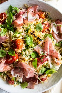 Pasta Recipes, Dinner Recipes, Cooking Recipes, Healthy Recipes, Orzo Salad Recipes, Pasta Salad, Clean Eating, Healthy Eating, Giada De Laurentiis