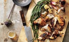 Garlic-and-Rosemary Grilled Chicken with Scallions / Christopher Testani