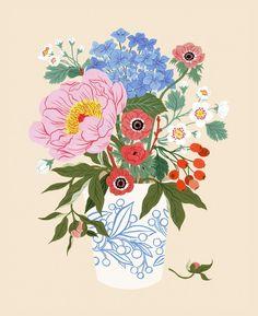 Plant Illustration, Botanical Illustration, Nature Artwork, Floral Artwork, Watercolor Flowers, Fine Art Paper, New Art, Art Inspo, Art Reference