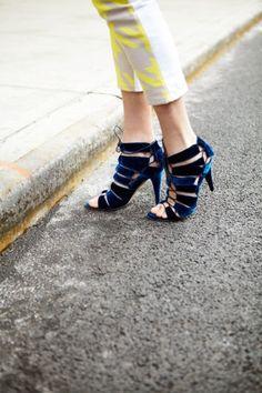 What Our Editors Wore To NYFW: velvet Loeffler Randall heels