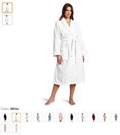 Superior 100% Premium Combed Cotton Unisex Medium Terry Bath Robe, White - http://amzn.to/2tY5CRA