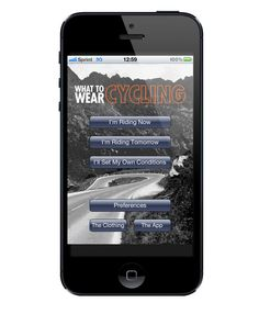 What To Wear When Cycling app