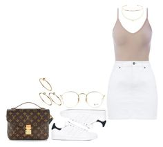 """""""#648"""" by laylah-wish ❤ liked on Polyvore featuring adidas, Intimissimi, Agnes de Verneuil, Jennifer Fisher, Ray-Ban, ASOS and Louis Vuitton"""