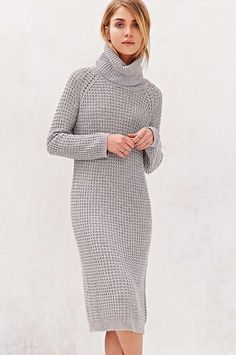 30 Sweaterdresses To Beat The Winter Blues #refinery29  http://www.refinery29.com/sweater-dress#slide-16  A knee-length, textured knit for work and play.