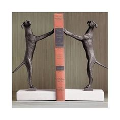 Golden Retriever Bookends (Set of 2) Molded in Iron with Marble Base Representing Strength and Elegance. These Book Ends are Guaranteed to Attract Attention with Contemporary Look and Feel., http://www.amazon.com/dp/B00S2A9SMG/ref=cm_sw_r_pi_awdm_AhwTwb1ZTR1VW