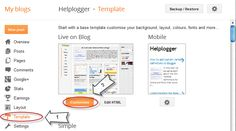How to Add CSS code To Blogger using Template Designer | Helplogger