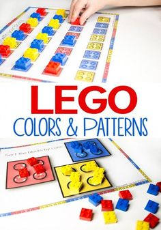 FREE Lego colors and patterns activity for kids. Great sorting activity for toddler, preschool, prek, kindergarten for early math activity