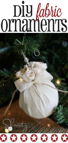 Best DIY Ornaments for Your Tree - Best DIY Ornament Ideas for Your Christmas Tree - Easy Fabric Balls Christmas Ornamen Burlap Christmas Tree, Kids Christmas Ornaments, Holiday Crafts For Kids, Christmas Balls, Rustic Christmas, Christmas Decorations, Christmas Swags, Christmas Christmas, Homemade Christmas