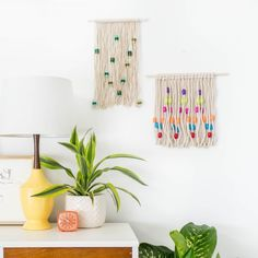 Learn how to transform plain rope, colorful beads, and a simple dowel rod into a gorgeous handmade knotted rope wall hanging!