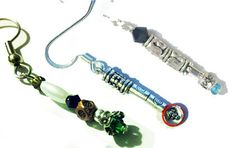 Sonic Screwdriver Earrings Any Doctor  Beaded by BadWolfCosplay, $10.00