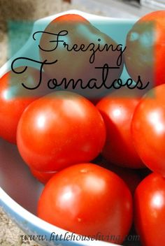 Grab another bowl and squeeze out any juice or seeds from the inside of the tomato quarters. You just want to try and freeze the meat. Addin...