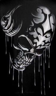 "Skull headphones by ""RADIKALDESIGNS HAND MADE AIRBRUSH"""