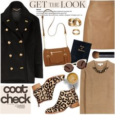 Get the Look: Cool Coats by helenevlacho on Polyvore featuring Burberry, Lipsy, Jeffrey Campbell, New Directions, Apt. 9, Illesteva, NARS Cosmetics, GetTheLook, contestentry and coolcoat