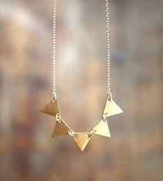 Bunting Banner Necklace / Lanyapi Designs