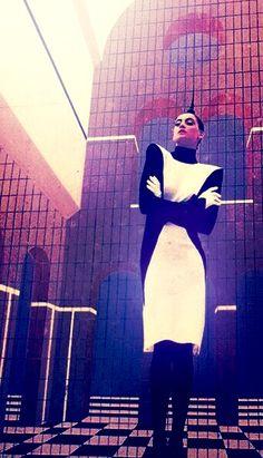 Thierry Mugler dress 1979  https://www.pinterest.com/r60620/80s-fashion/  https://www.pinterest.com/r60620/