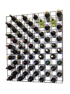 Wine Cellar Innovations Factory Second Black Metal Lattice Wine Rack- 130 Bottle