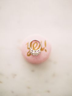 Gorgeous Three Stone Engagement Ring | Dana Fernandez Photography | The Most Romantic Styled Proposal in Blush and Gold