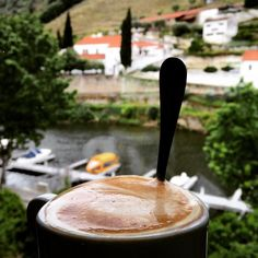 #cafe #con  #leche #coffee #foam #cappuccino #porto  #douro #dourovalley #region #wine #routes #vineyard #grapes #takes6-8 #kilos to #make #one #bottle #insane #mylife  #myview #coffeelover #coffeeholic #coffeetime #hindox #taste #discover by hindox
