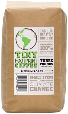 Tiny Footprint Coffee Organic Signature Blend Medium Roast Whole Bean Coffee 3 Pound ** Details can be found by clicking on the image. (This is an affiliate link) Buy Coffee Beans, Palm Sugar, Coffee Packaging, Footprint, Roast, Organic, Note, Amazon, Medium