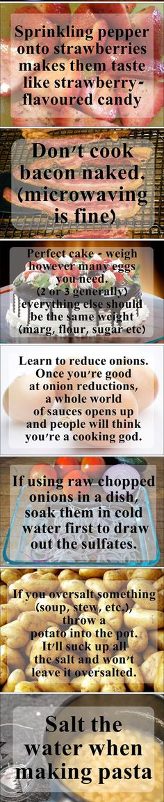 Tips and tricks everyone should know about cooking...