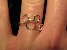 Wire Wrapped Mickey Mouse MADE to ORDER Ring by 1ofAkinds on Etsy, $8.00