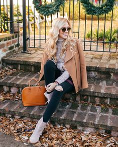 winter outfit idea | mixing brown and black