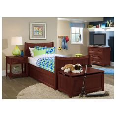School House Twin Taylor Bed Cherry