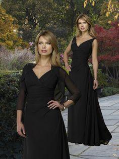 V-Neck Floor-Length Mother of Brides Dress