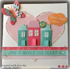 Scrapcard Addiction Asylum, Where The Heart Is, Addiction, Mixed Media, Create, Sweet, Cards, How To Make, Inspiration