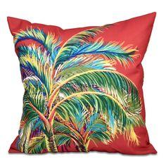 Found it at Wayfair - Pinkfringe Floral Print Outdoor Throw Pillow