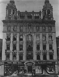 The Woolworth / Bon Ton building as it stood on North Queen Street in Lancaster, Pa. circa 1907.