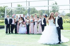 Soccer field wedding pictures - had to do it for my hubby (soccer player ) #weddingpictures #soccerwedding #wedding #soccerfield #soccer #funweddingpictures #soccerfan