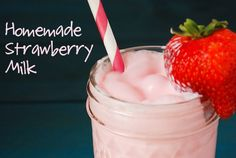 Homemade Strawberry Milk from www.thenovicechefblog.com
