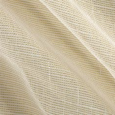 """110"""" Faux Linen Sheer Metallic Ivory/Gold from @fabricdotcom  This faux linen sheer fabric has a linen like appearance and has a beautiful open textured weave with gold metallic threads. Perfect for draperies, swags, curtains and table top."""