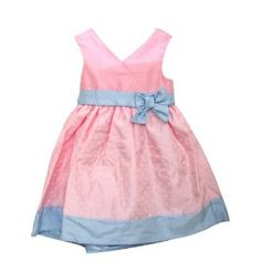 Girls Spotted Design Summer Wear Special Occasion Dress with Bows