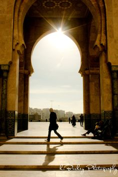 At the Mosque in Casablanca, Morocco