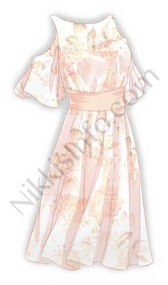 This ethereal dress is made of the famous Cloud Calico fabric of Cloud Empire. Do you feel its unique lightness? Dress Design Sketches, Fashion Design Drawings, Fashion Sketches, Dress Drawing, Drawing Anime Clothes, Princess Outfits, Girl Outfits, Kleidung Design, Anime Girl Dress