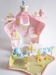 This is so kawaii Hello Kitty My Melody, Sanrio Hello Kitty, Little Twin Stars, Little Star, Casa Lego, Kawaii Room, Polly Pocket, Sanrio Characters, All Things Cute