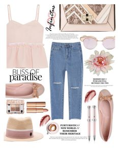 """07.09.2016"" by liorosa ❤ liked on Polyvore featuring Steve J & Yoni P, Diane Von Furstenberg, Maison Michel, Urban Decay, Montegrappa, Le Specs, Pretty Ballerinas and Martha Stewart"