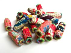 Quilted Beads, inspired by Kantha stitching, by Victoria Gertenbach