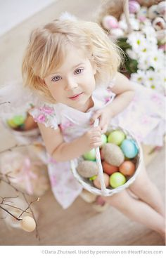 Easter Photo Session Ideas - Child Portrait Session by Daria Zhuravel - Featured on iHeartFaces.com